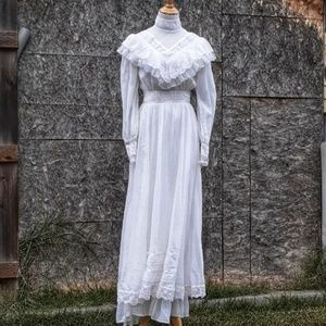 Gunne Sax '70's Prairie /Wedding Dress Ivory XS/S